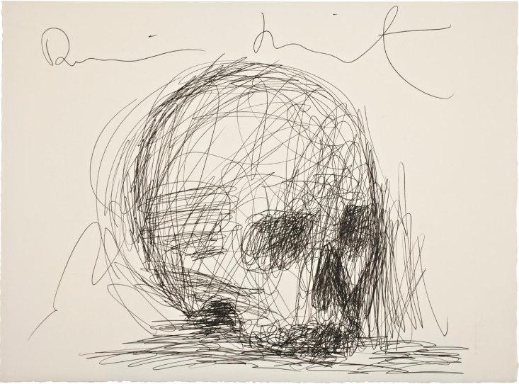 Damien Hirst-Untitled (Skull Drawing)-2004