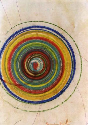 Damien Hirst-Untitled (Spin Drawing)-1995