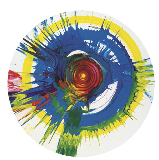 Damien Hirst-Untitled (Spin Painting)-2001