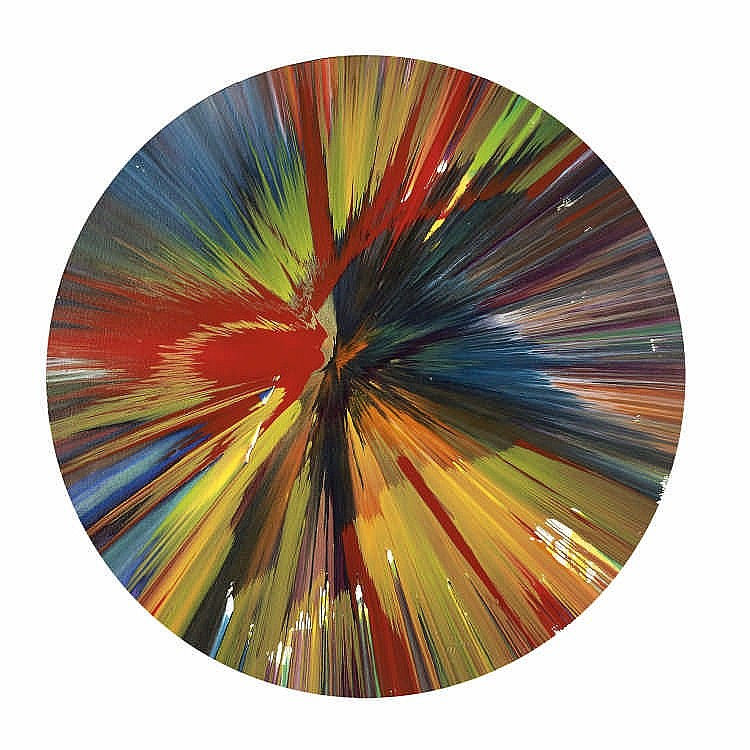 Damien Hirst-Untitled (Spin Painting)-2009