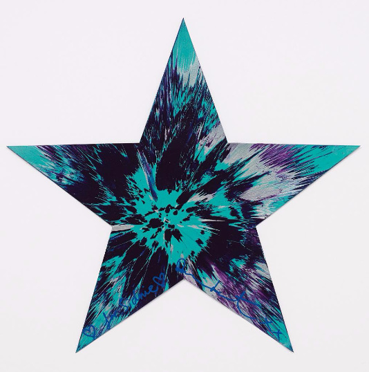 Damien Hirst-Untitled (Star Spin Painting)-2011