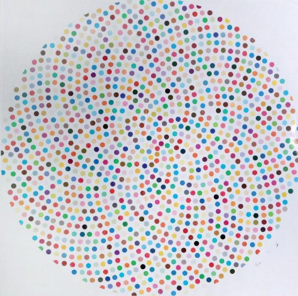 Damien Hirst- Valium, 2000 (126,5 x 126,5 cm)
