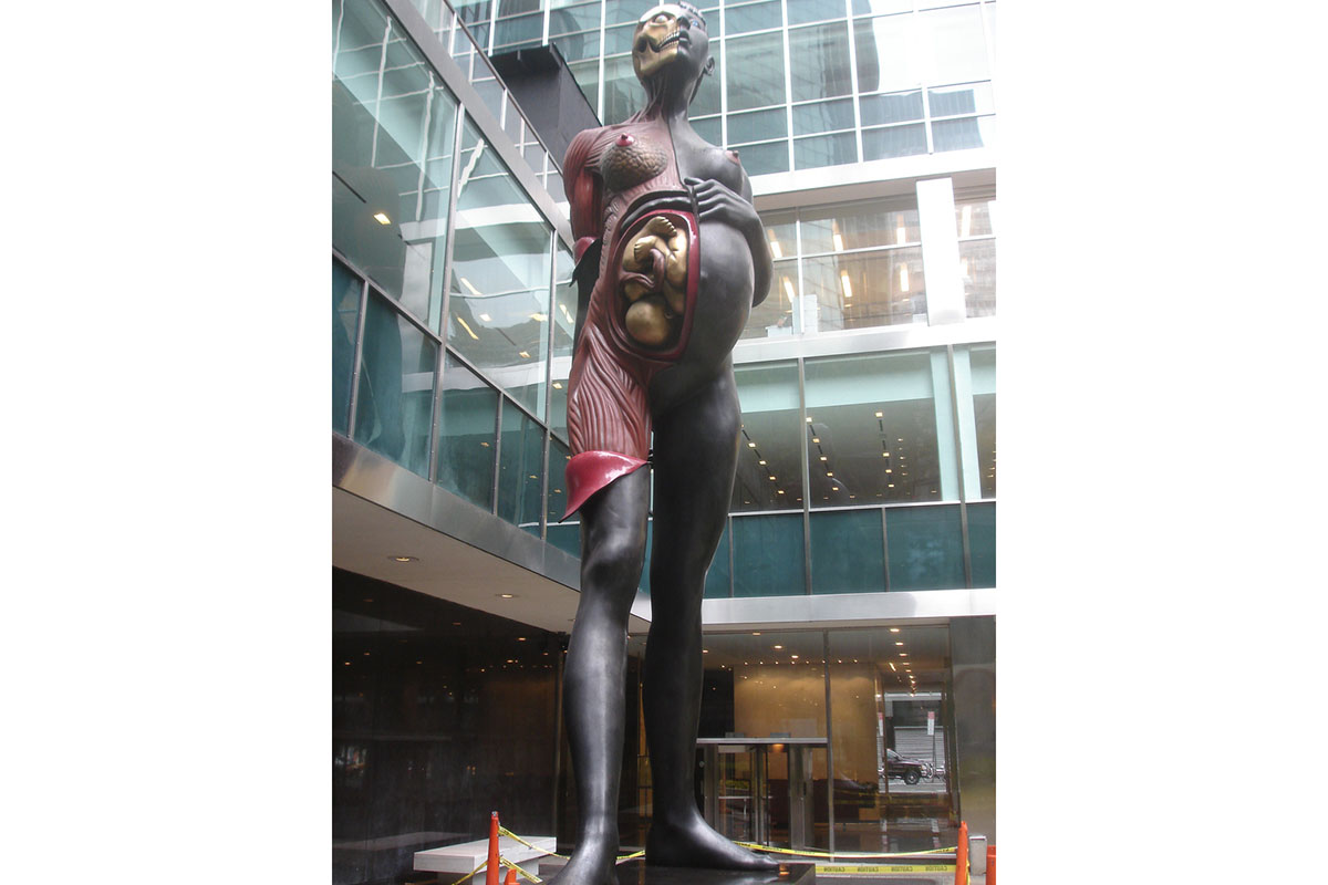 Damien Hirst - Virgin Mother. Located at the Lever House, near MoMA. Image via Navin75