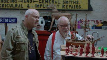 Damien Hirst Visits Peter Blake's Studio - LR