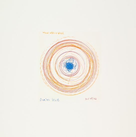 Damien Hirst-Wheel Within a Wheel (from In a Spin, The Action of the World on Things, Volume I)-2002