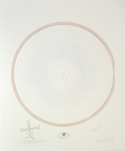 Damien Hirst-Windmills of my Mind (from In a Spin, The action of the World on Things II)-2008