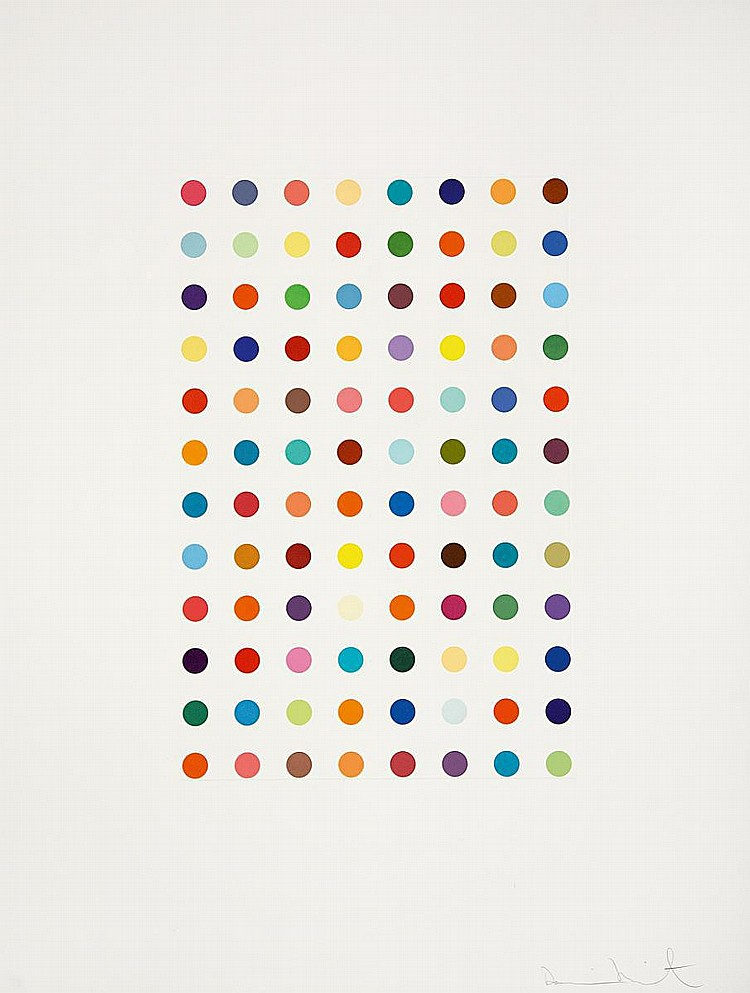 Damien Hirst-Xylene Cyanol Dye Solution-2005