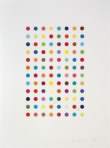 Damien Hirst-Xylene Cyanol Dye Solution-2008