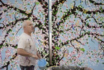 Damien Hirst's Latest Paintings of Cherry Blossoms at Fondation Cartier