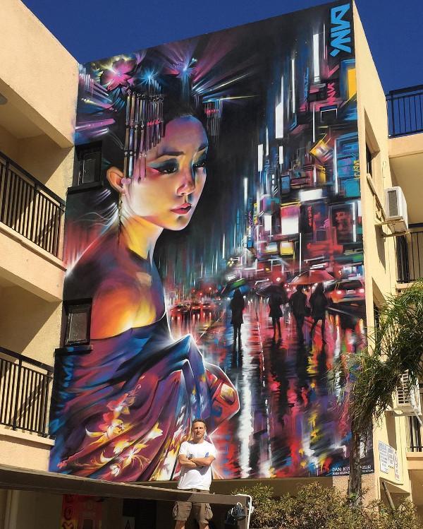 Dan Kitchener - Ayia Napa Street Art Festival 2016 - Cyprus