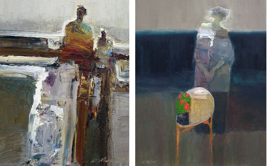 Dan McCaw - Study (left), Fulfillment (right)