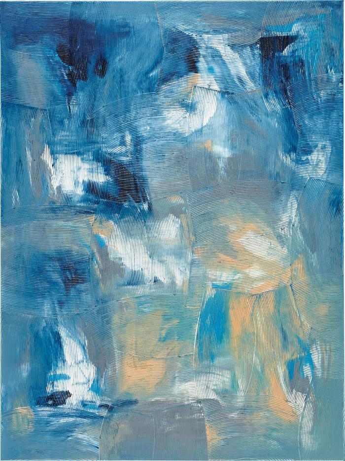 Dan Rees-Artex Painting-2012
