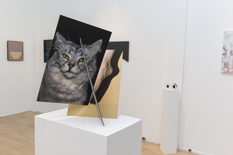 Dan Swindel - Plaid (Exhibition View) - Courtesy of Hashimoto Contemporary Gallery