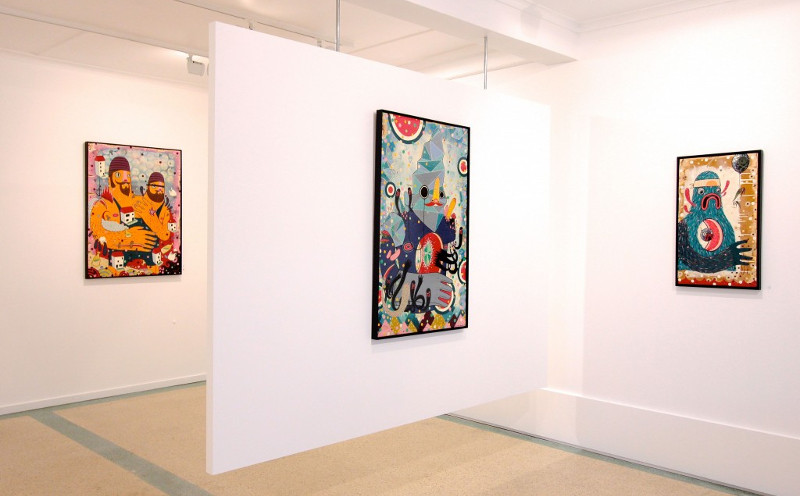 Dan Withey - Humans, solo show at Penny Contemporary, 2014, installation view