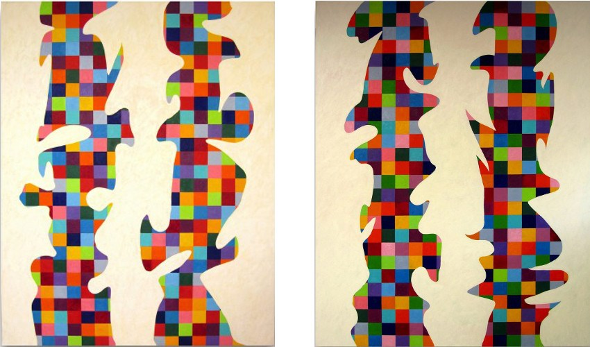 D.Gordon - Endless Painting 1 - 2014 (Left) / Endless Painting 2 - 2014 (Right) - oil on canvas