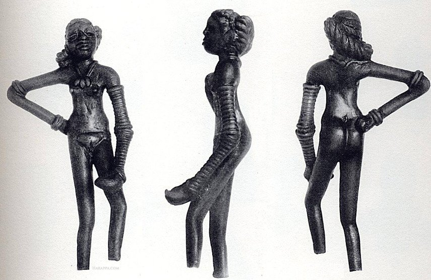 Dancing Girl from Clay Mohenjodaro is one of the oldest-known bronze sculpture and statues