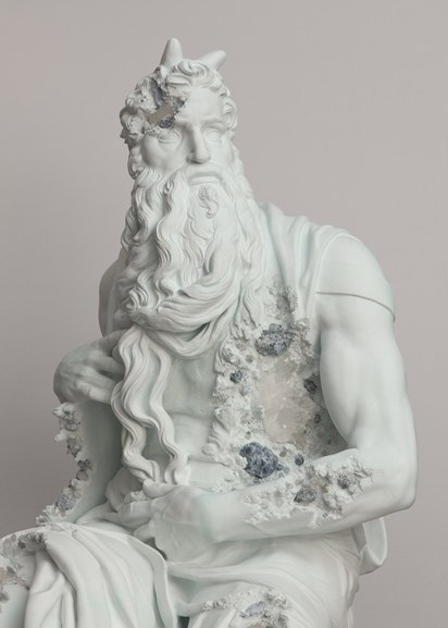 Daniel Arsham - Blue Calcite Eroded Moses