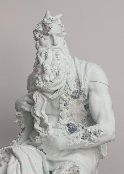 Daniel Arsham - Blue Calcite Eroded Moses