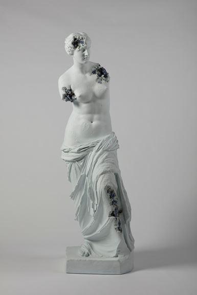 Daniel Arsham - Blue Calcite Eroded Venus of Milo