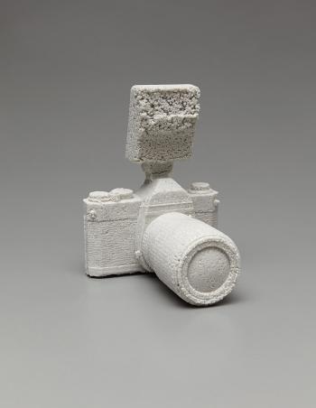 Daniel Arsham-Pentax K100 reformed in ceramics-2012