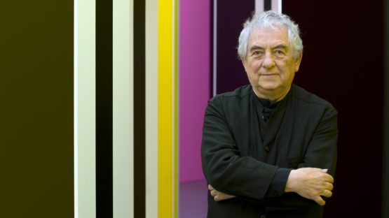 Daniel Buren - Photo of the artist - Image via uoregon - Contact the news for privacy terms
