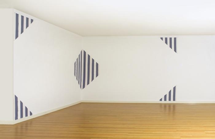 Daniel Buren-Riflesso: Une Peinture En 5 Parties Pour Deux Murs Work In Situ-1980