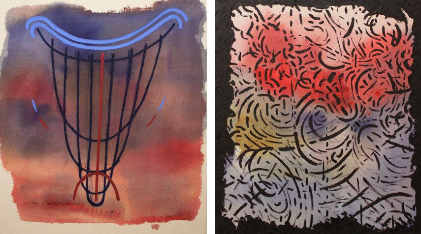 Daniel Correa - Untitled, 2015 (Left) ---- Untitled, 2016 (Right)