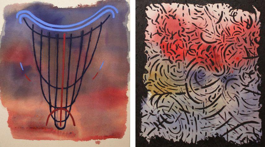 Daniel Correa - Untitled, 2015 (Left) ---- Untitled, 2016 (Right)