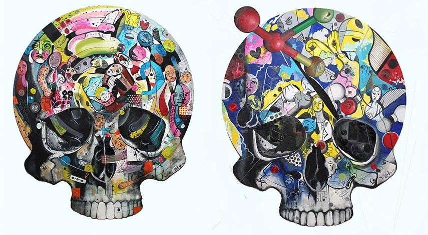 Daniel Dalopo - Skull, 2015 casariche street sevilla httpswww aufrufe canvas facebook work 2016