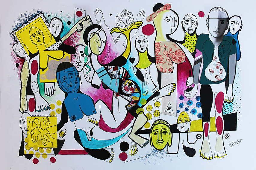 Daniel Dalopo - Untitled, 2014 casariche street sevilla httpswww aufrufe canvas