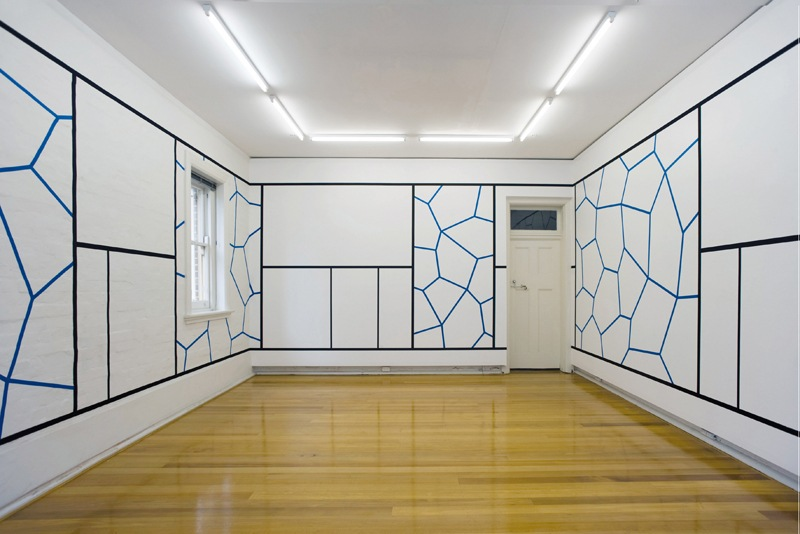 Daniel Göttin - Network 40, 2008, installation view at Peloton, Sydney, Australia, minimal art, installation, work contact