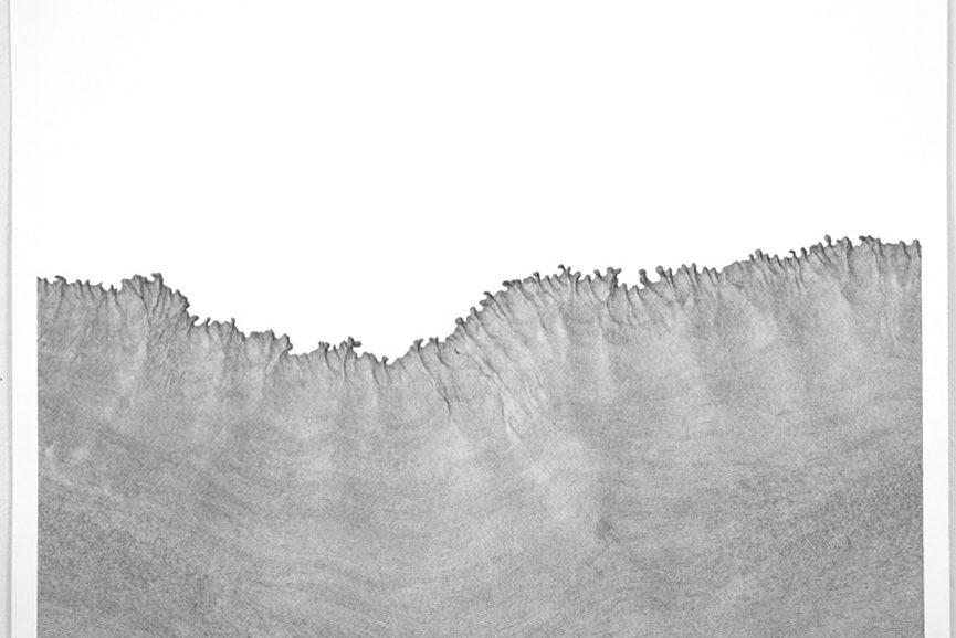 Daniel Zeller - SitA, 2015. Ink on paper, 30 x 37 in
