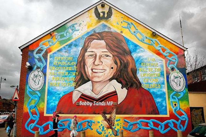 world life conflict view Bobby Sands Mural