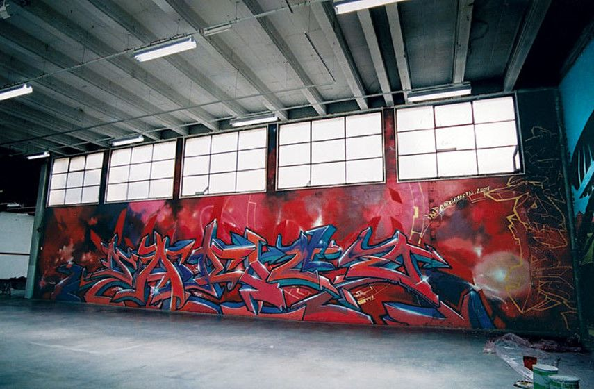 Darco - One of Darco's graffiti pieces from the FBI period