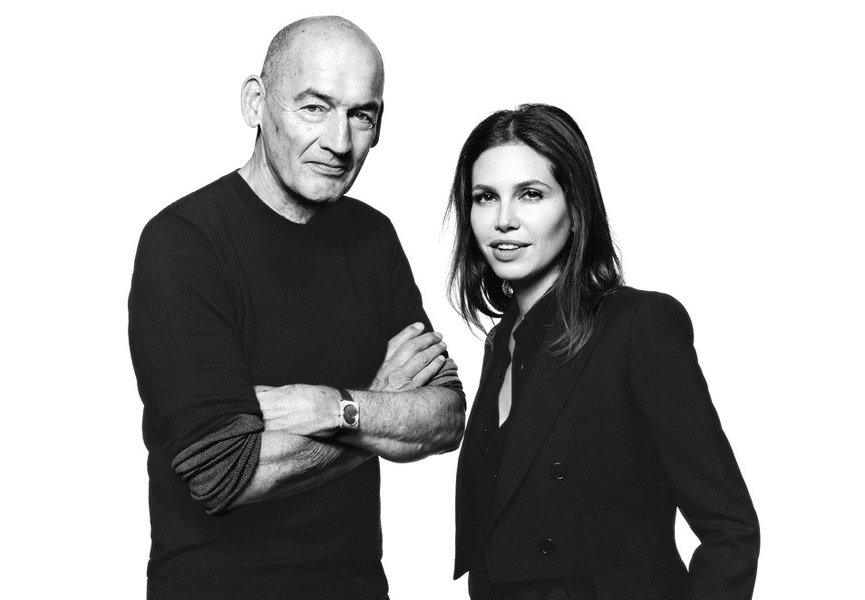 Dasha Zhukova and Rem Koolhaas photographed by David Bailey