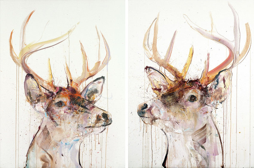 Dave White - Stag IV, 2015 - Stag V, 2015, dave white edition press is finished, dave white, white canvas and white color