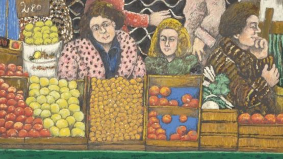 David Azuz - At the Market, 1980 (detail)