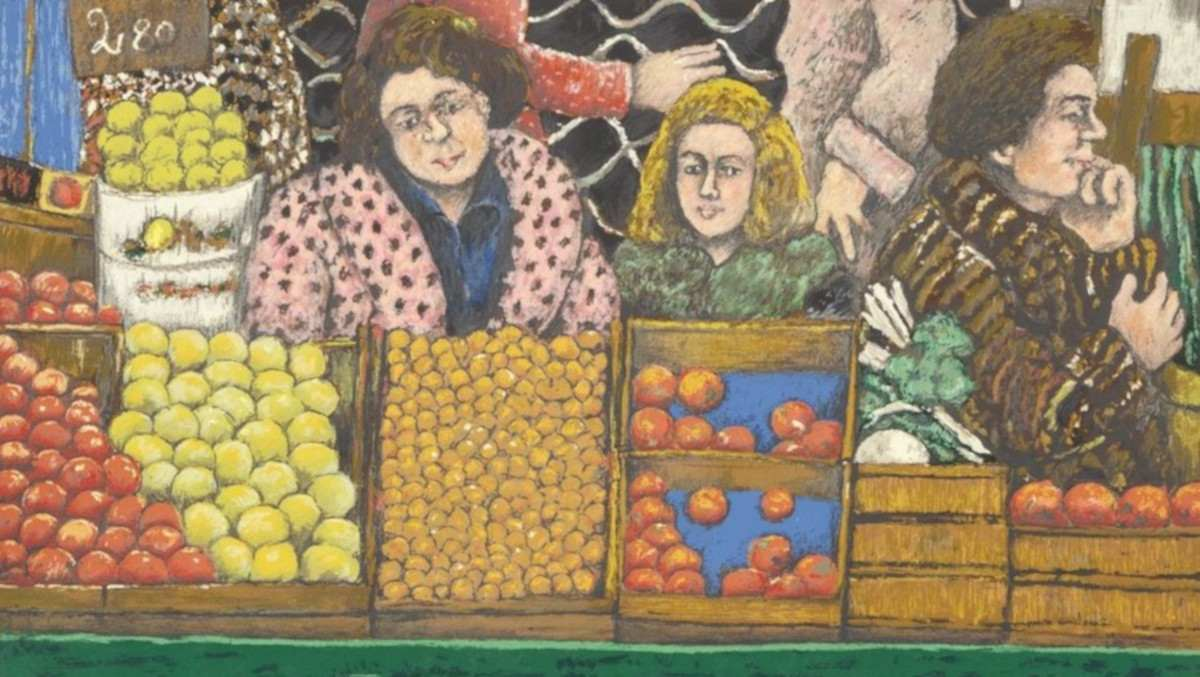 David Azuz - At the Market, 1980 (detail)