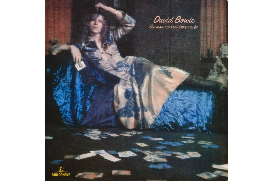 David Bowie's The Man Who Sold the World album cover, 1970