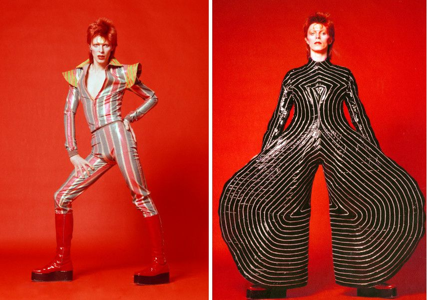 David Bowie, 1973 - Striped bodysuit for the Aladdin Sane tour, 1973