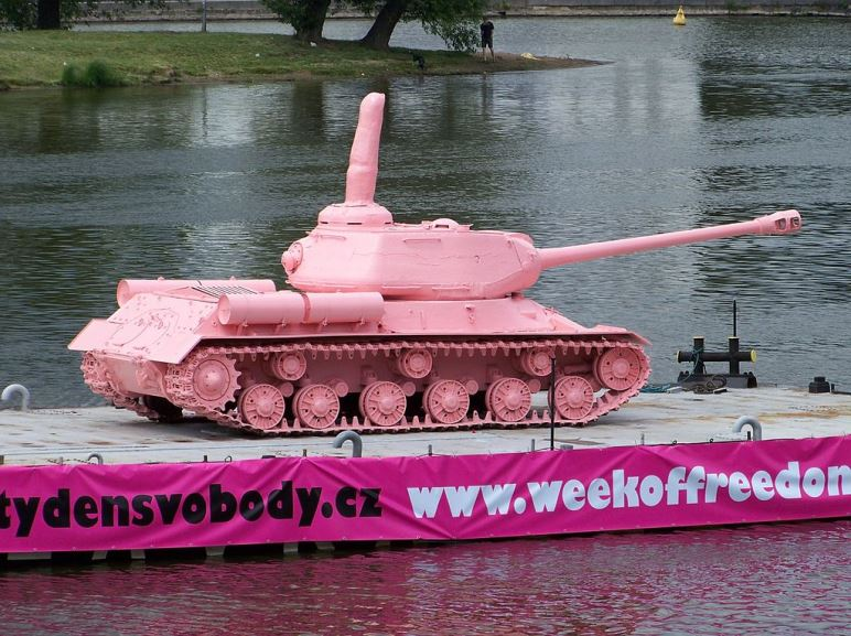 David Cerny - Pink Tank with middle fin