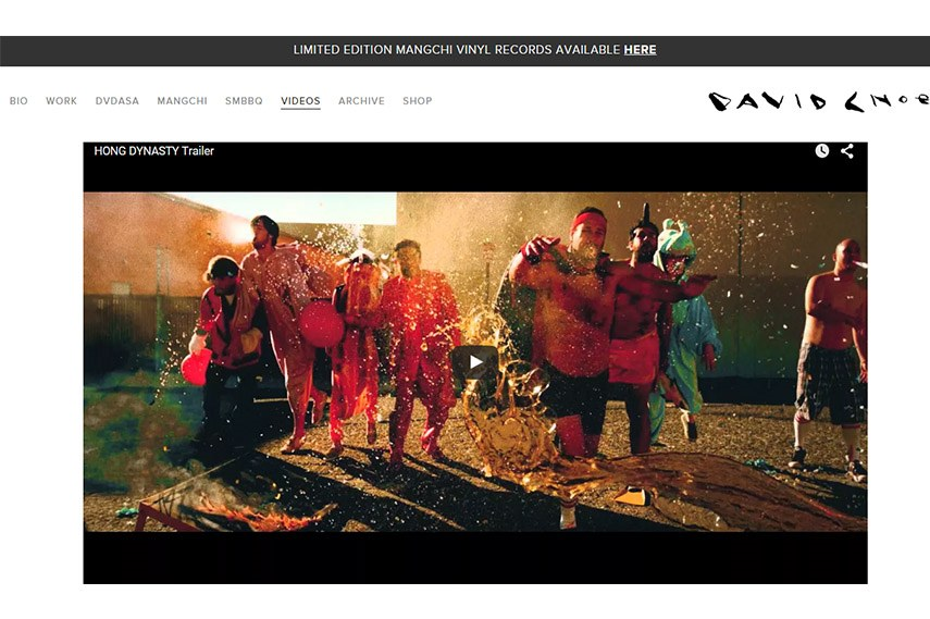 David Choe website screenshot