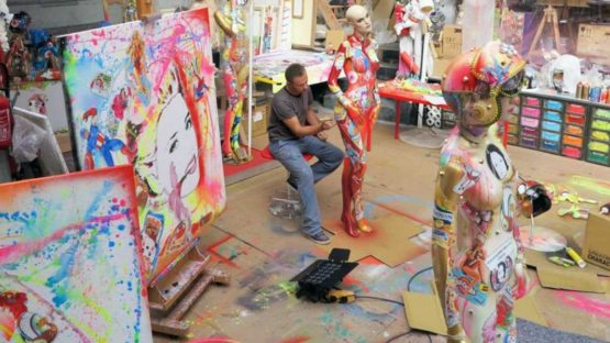 David Cintract in his studio