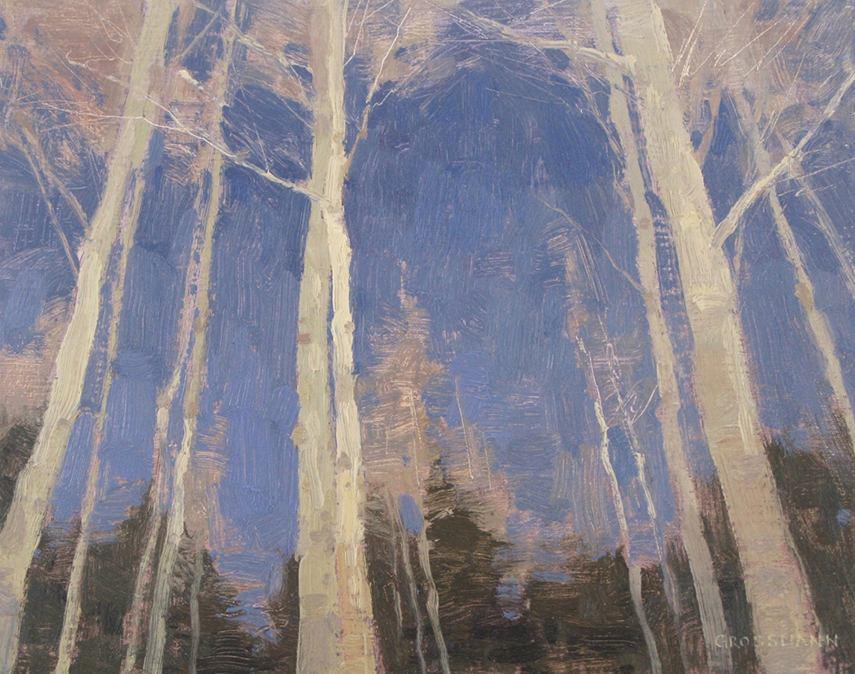 David Grossmann - Trunks and Sky in Winter, 2015