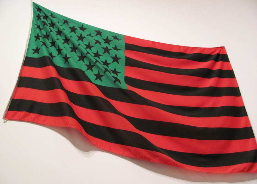 David Hammons - African American flag - Photo Credits Lost Toy - New York gallery in 2016 is no more - street is our museum!