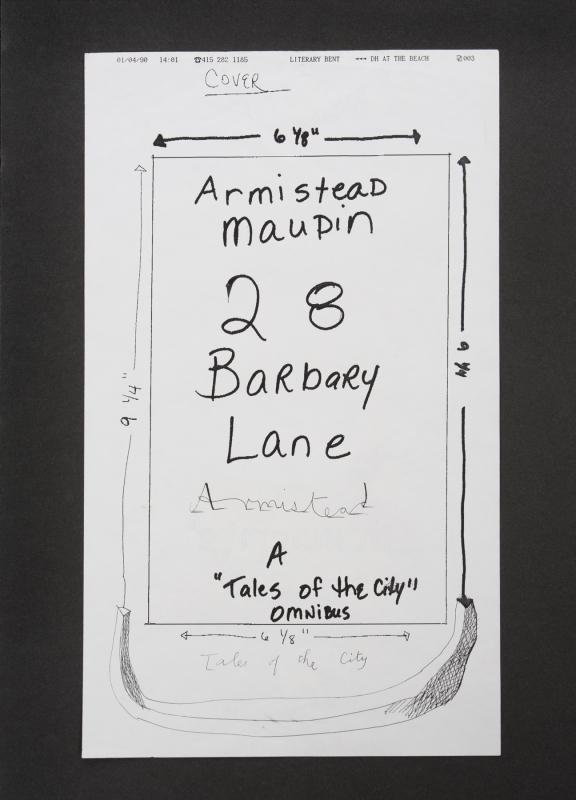 David Hockney-Armistead Maupin Fax-
