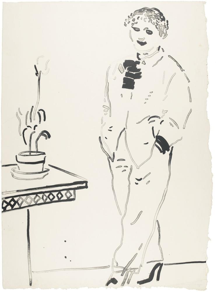 David Hockney-Celia Amused-1979
