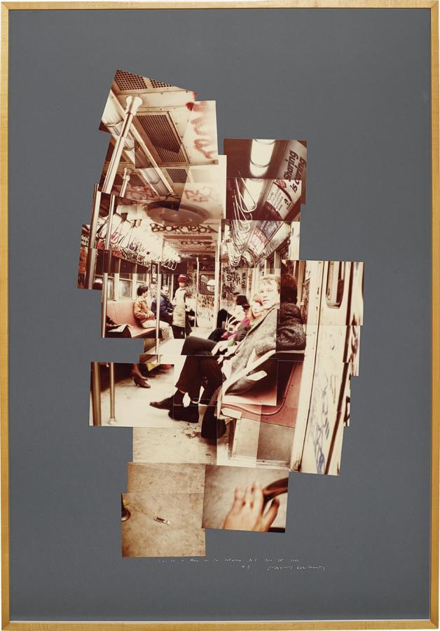 David Hockney-David and Ann on the Subway, N.Y., Nov. 28-1982