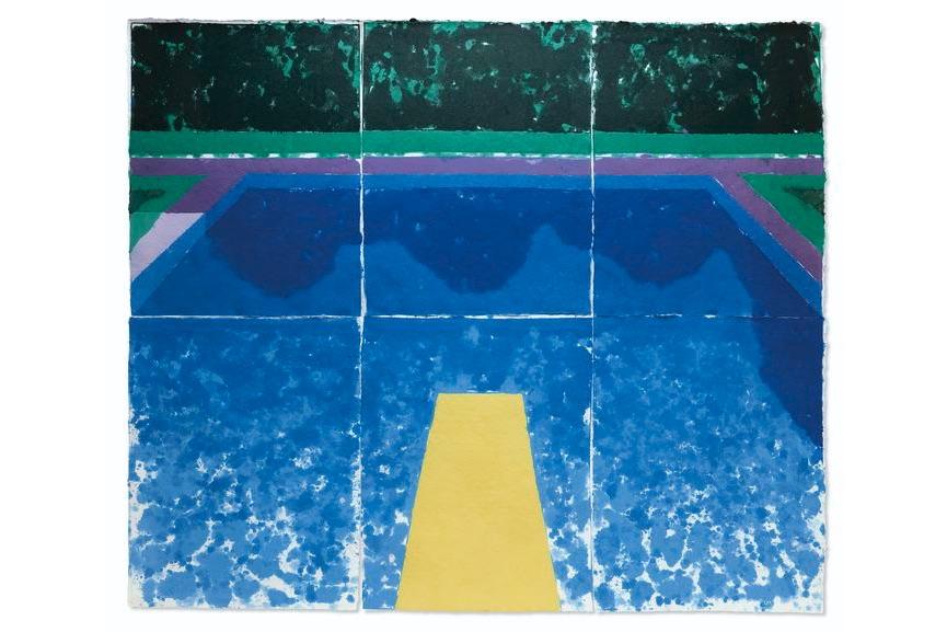 David Hockney - Day Pool with Three Blues, 1978
