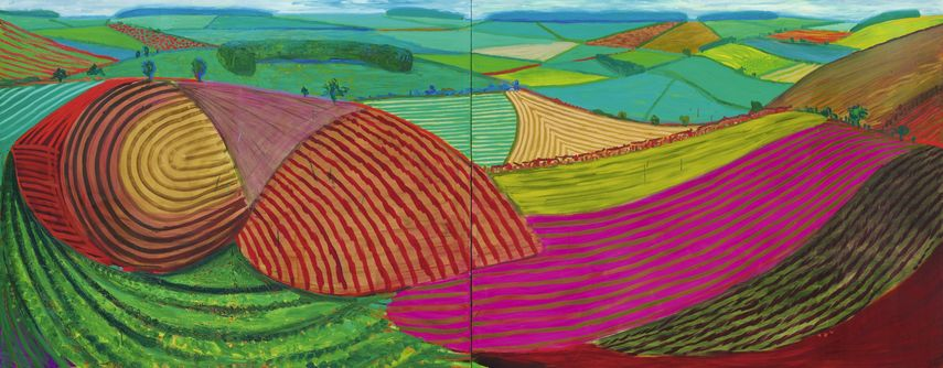 David Hockney - Double East Yorkshire, 1998
